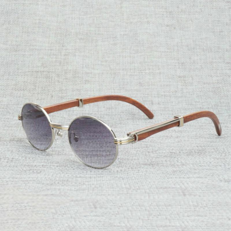 Lunettes de soleil Buffalo corne de doigt Buffalo Hommes Bois naturel Cadre en verre clair pour femmes lunettes de plein air Verres rondes