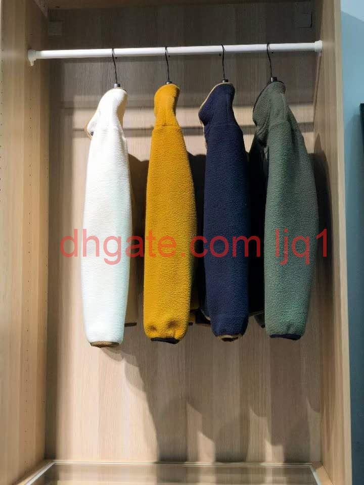 2020 Новые Мужские Денали Флисовая кнопка Куртки Мода Открытый Ветрозащитный Письмо Вышивка Куртка Пиджак Войти M / 2XL # 7806