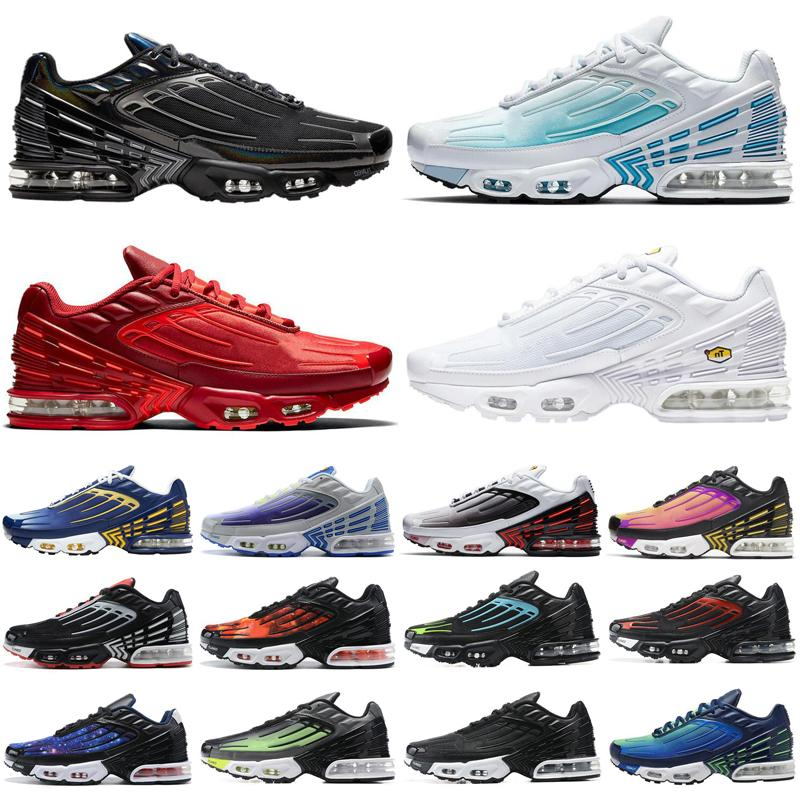 2020 tn plus 3 men women running shoes triple white Black Iridescent Crimson Red Laser Blue mens trainers sports sneakers runners size 36-45