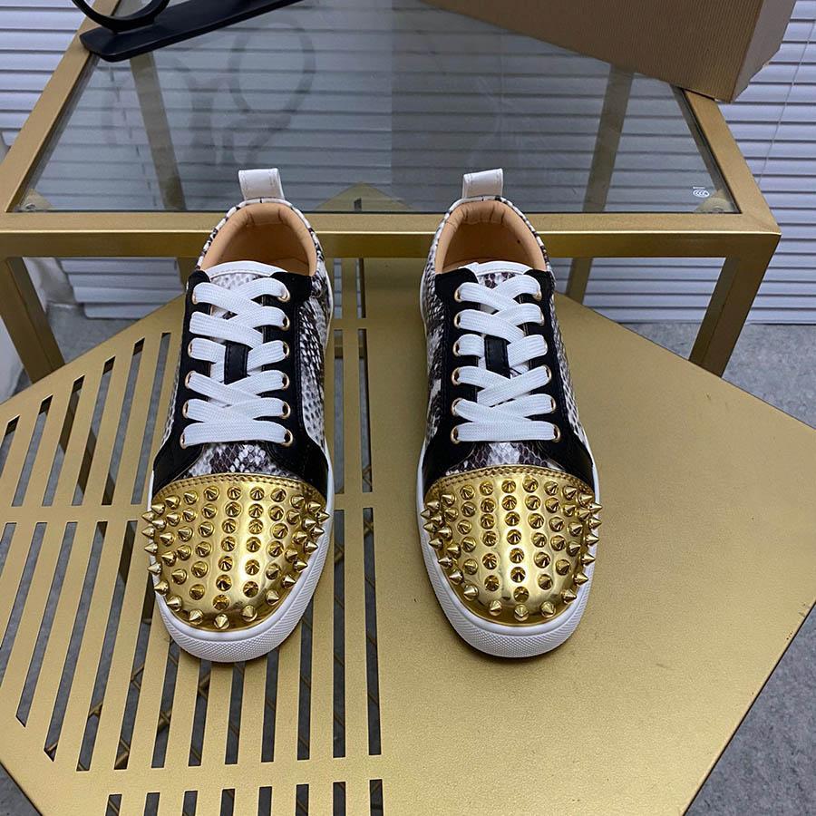 Обувь платформы цветная живопись игристыми бриллиантами коньки обувь шипы дизайнерские кроссовки натуральная кожа модная повседневная обувь для мужчин женщин