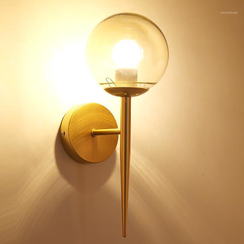 Nordic Современные Настенные Лампы Браки Черный / Золотой Декоративный Ночной Свет для Путей Лестница Спальня Прикроватная светильник E271