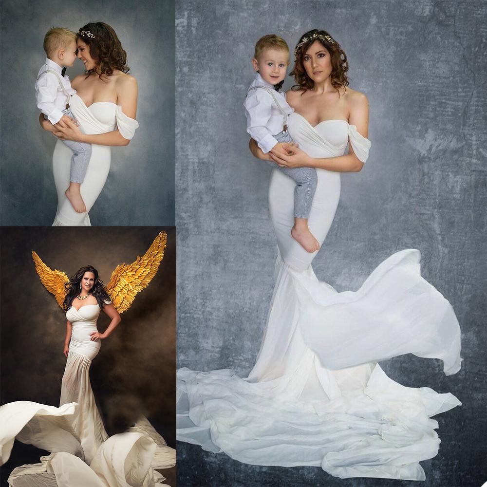 Camisón hecho a medida Maternidad Mujeres Vestidos de gasa Partido Vestidos de baile de fiesta OFF SHOURS PUTH PHOTOS SOLECCIÓN DE SUEÑO DE SUEÑO Robas