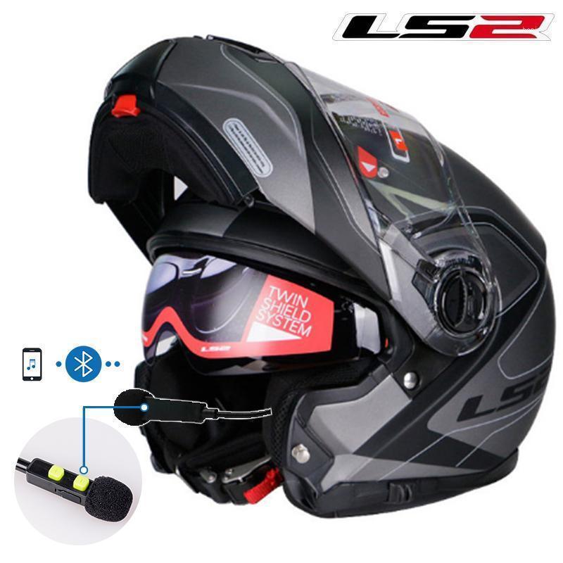Motosiklet Kaskları Hakiki LS2 FF325 Flip Up Motosiklet Kask Çift Güneş Kalkanı Lens Modüler Motosiklet Erkekler Tam Yüz ECE Yarış Moto Kaskları