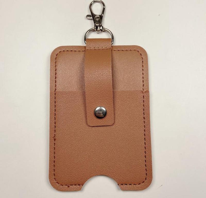 قلادة حقيبة محمولة اليد المطهر حامل حقائب 30ML 60ML زجاجة عطر التخزين حقيبة جلدية PU سلسلة المفاتيح الإكسسوارات 7 ألوان BT5841