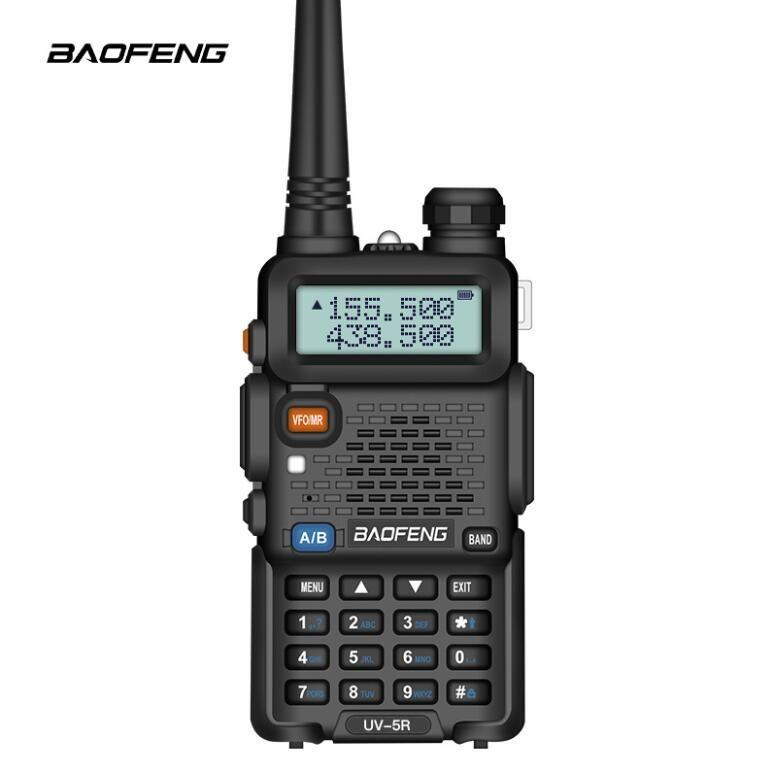 EPACK BAOFENG UV-5R UV5R WALKIE TALKIE DUAL BAND 136-174MHZ 400-520MHZ Two Way Radio Transmersers con Auricolare gratuito della batteria 1800mAh (BF-UV5