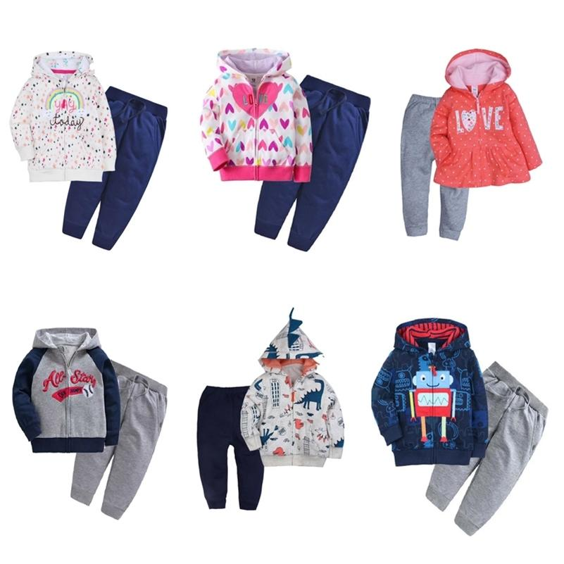 baby boy clothes long sleeve hoodie jacket+pants baby girl outfits infant set clothing 2020 autumn costume 2pcs/set cotton LJ201023