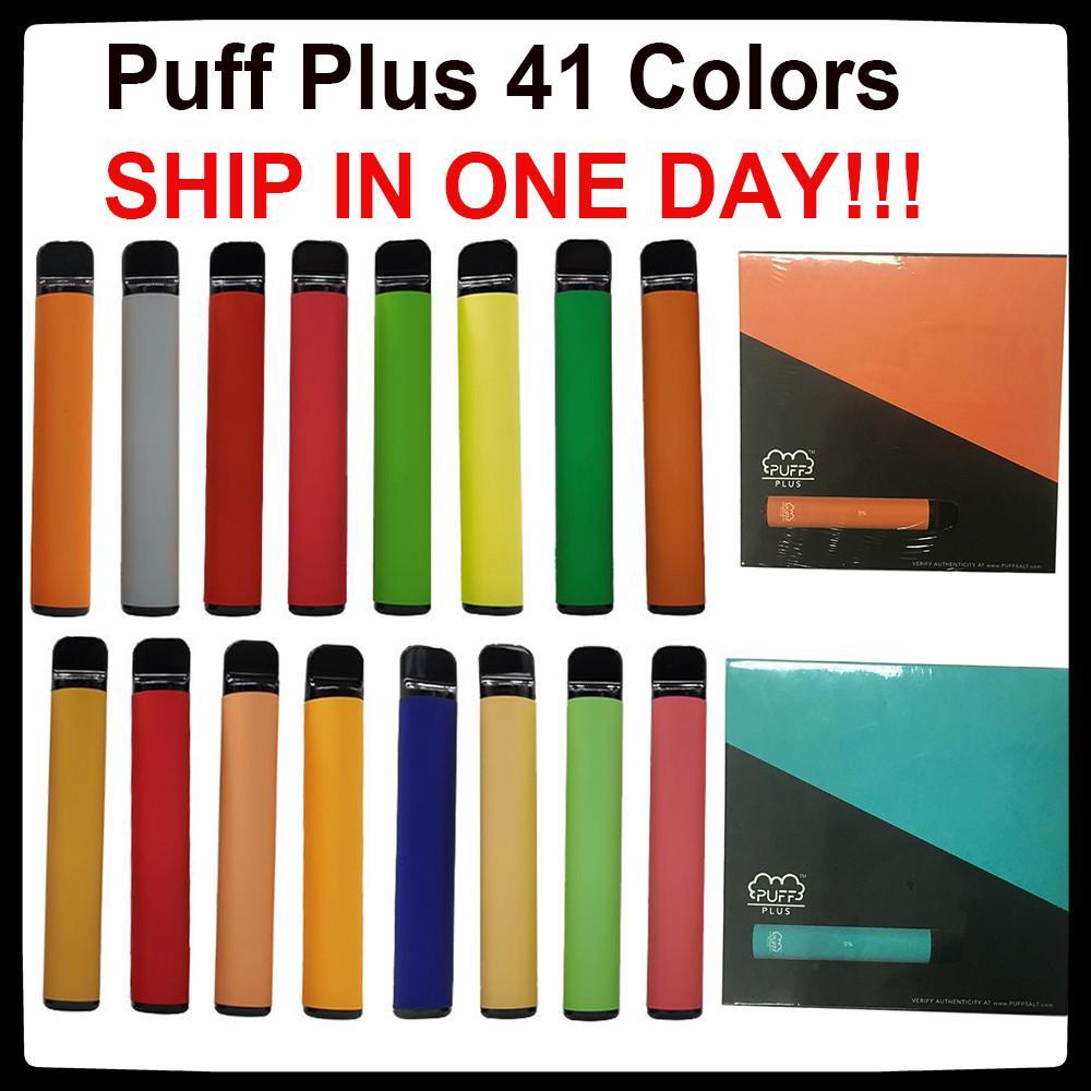 41 Colors Puff Bar Plus 800puffs disposable vape 510 thread Vaporizers Pods E-cigarettes