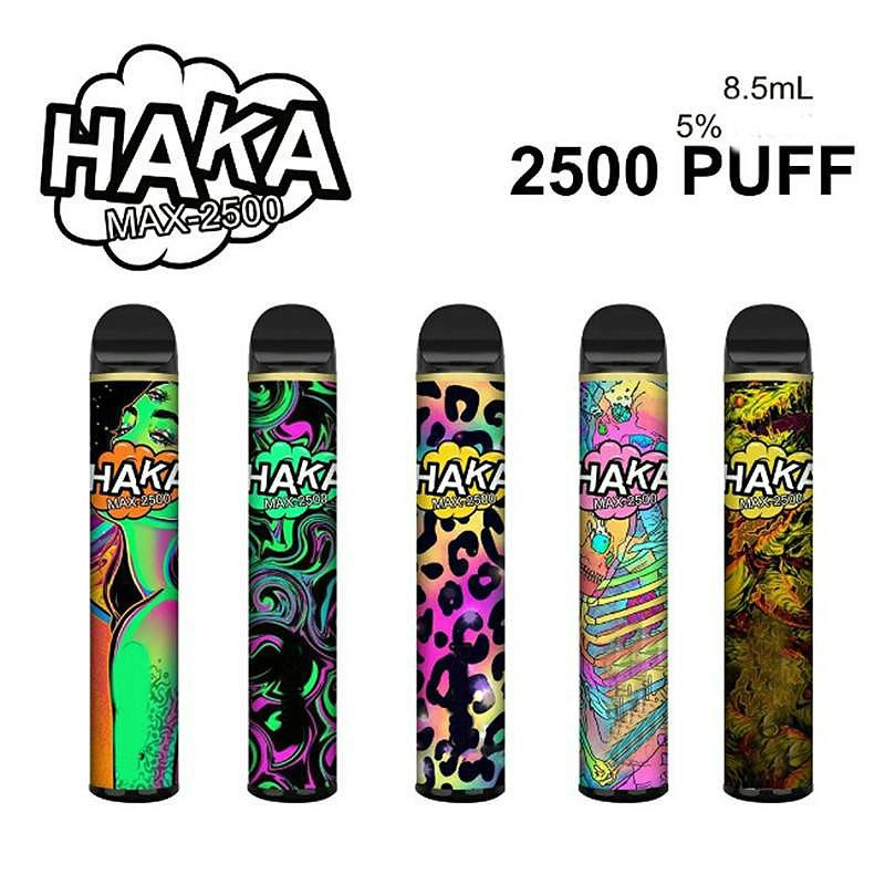 Authentic Haka Max Disposable Pod Device 2500 Puffs 8.5ml Prefilled Vape Stick Bar Pen Starter Kit Pod System 10 Colors