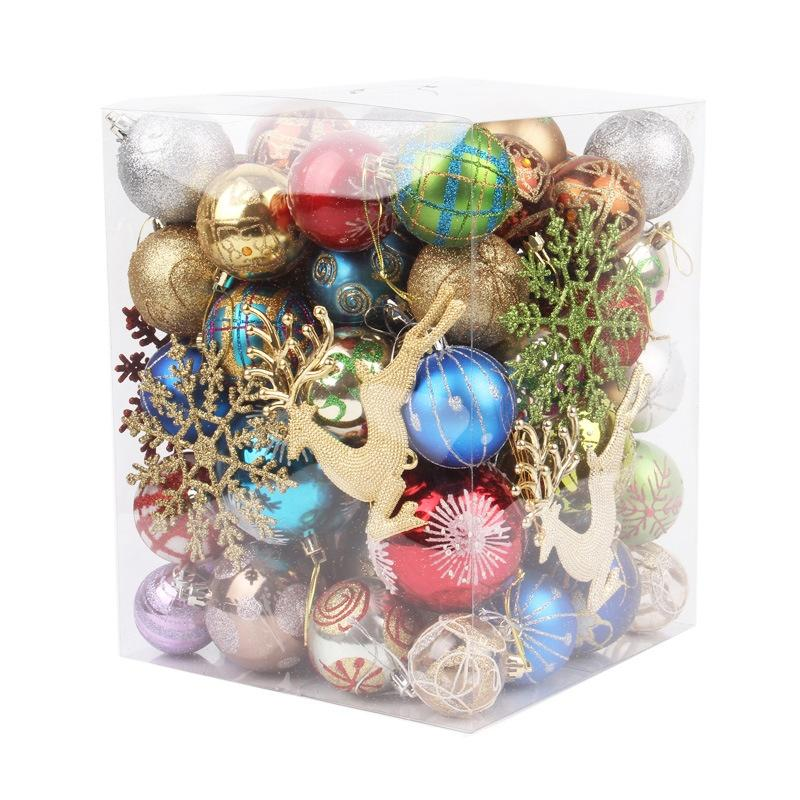 Christmas Ball Ornaments Assorted Shatterproof Christmas Tree Decorations Holiday Wedding Party Home Decor Hanging Baubles Set Colorful Ball