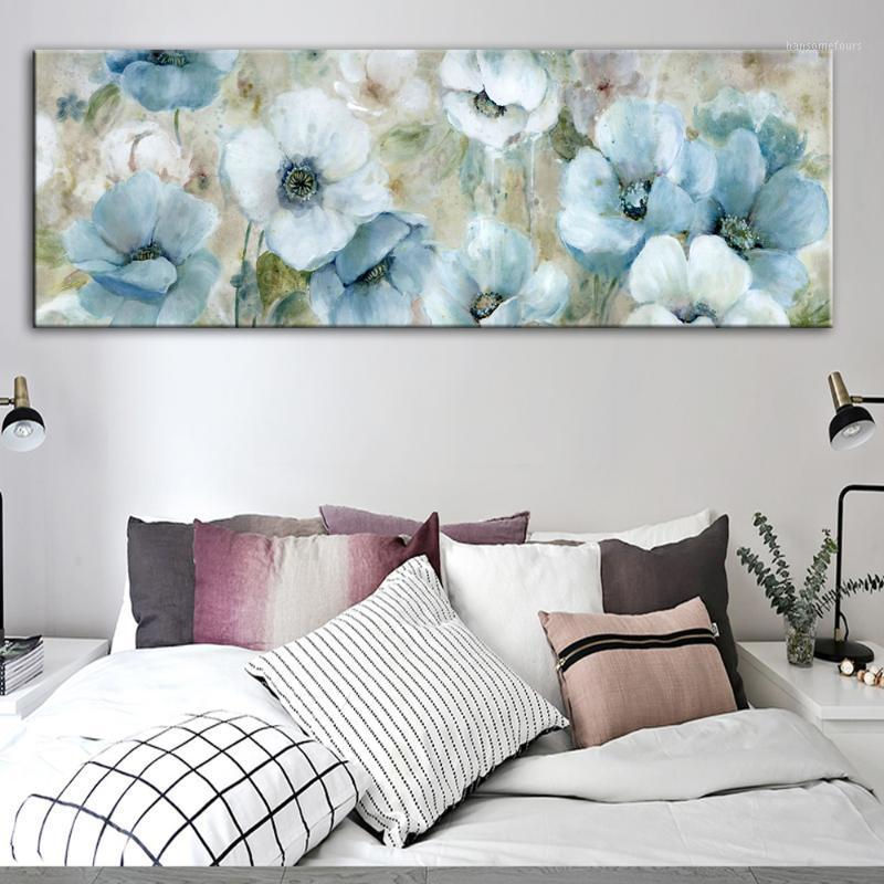 Fiori dipinti a olio stampa su tela parete astratta Poster e stampe watercolor flowers flowers immagini murali per soggiorno cuadros1