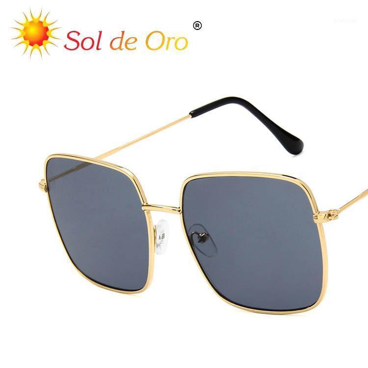 Солнцезащитные очки Trend Star Square Metal Корейский Ретро Полигон Большой Рамка Тонкая Лицо Женщины Big1
