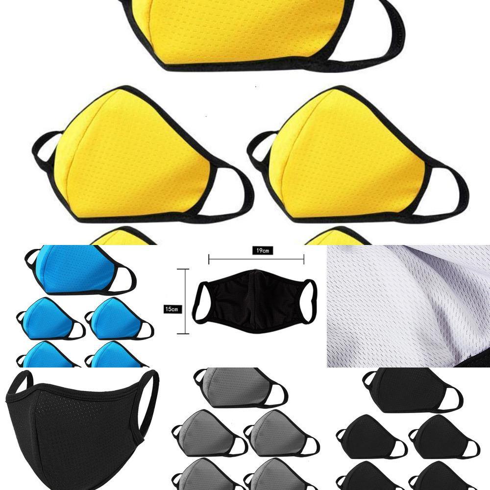 YSI45PCS Fashion Black Face-máscara para proteção de germes para adultos respirável boca de algodão máscara de face de faceSwashable e reutilizável