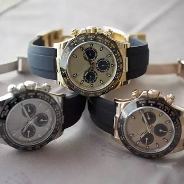 Top Qualität Männer 40mm Uhr Quarz Automatische Uhren Stahl Armband Keramik Lünette Saphir 116500 116520 DaytonaKosmograph tauchen y4ba #