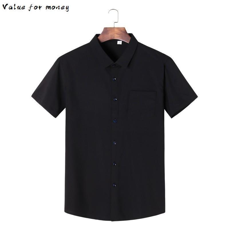 Camicie estate grandi dimensioni 2020 8XL 7XL 6XL 5XL nuovi uomini di stampato dimagriscono brevi camice del manicotto magliette casual maschile Plus Size