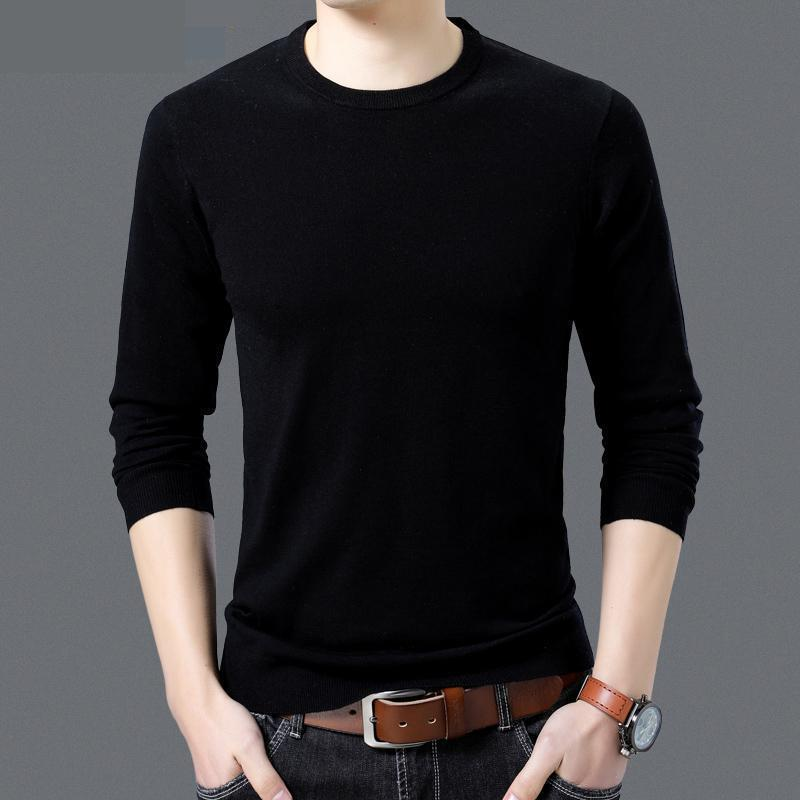 2020 Hot Winter Mens Cashmere Sweater Brand Man Clothes Men's Thick Winter 100% Merino Men Wool Sweaters Mens Knitwear Sweaters