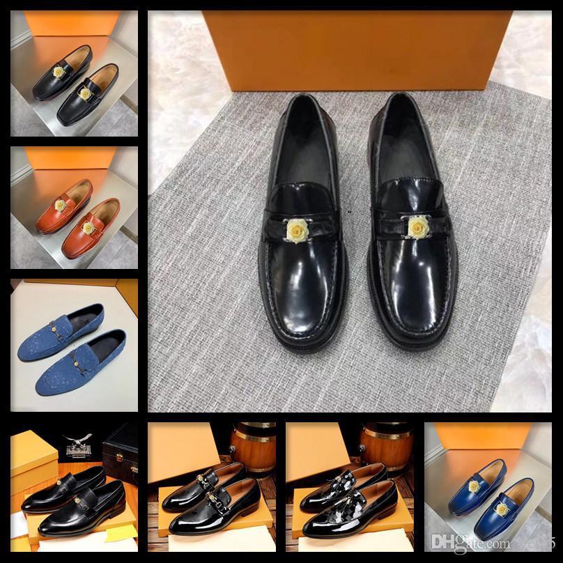 C5 nuovo uomo scarpa di velluto con velluto nappa partito e matrimonio uomini di lusso uomo vestito scarpe stile britannico uomo mocassini moda uomini appartamenti 11