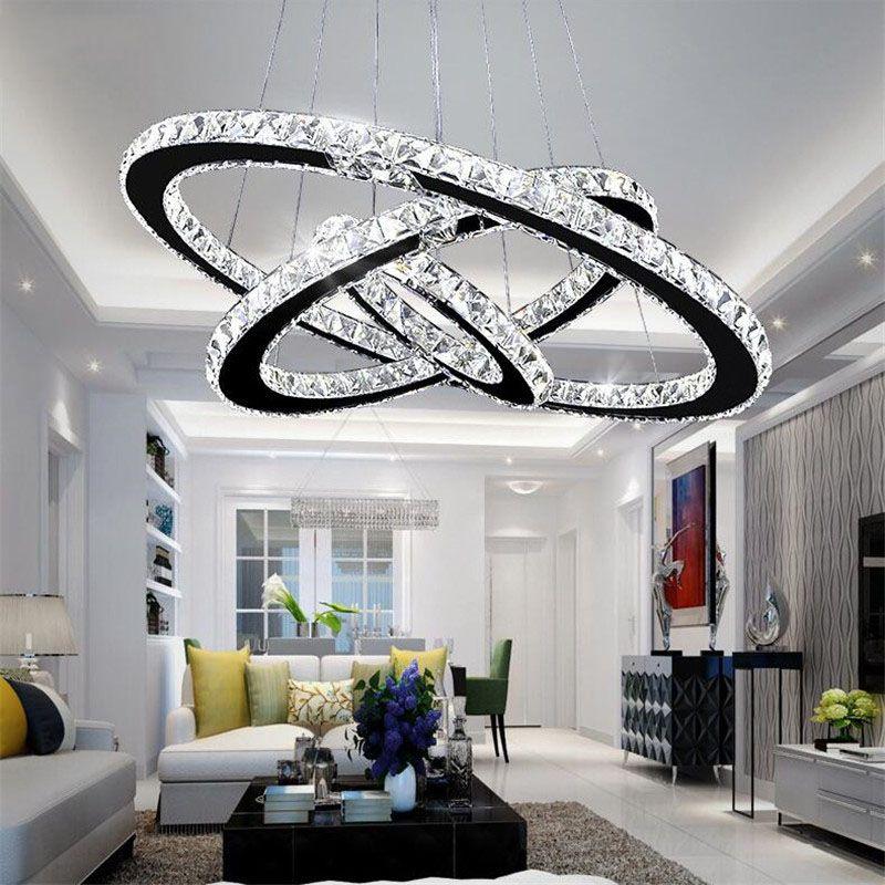 K9 de cristal moderna Led luzes do candelabro Home Lighting Chrome Luster lustres de teto Pendant Luminárias para sala de estar