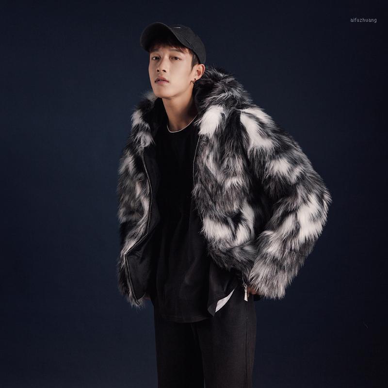 Uyuk invierno nueva moda suelta abrigo de piel hombres original de gran tamaño tendencia engrosamiento chaqueta de hombres con capucha masculino1
