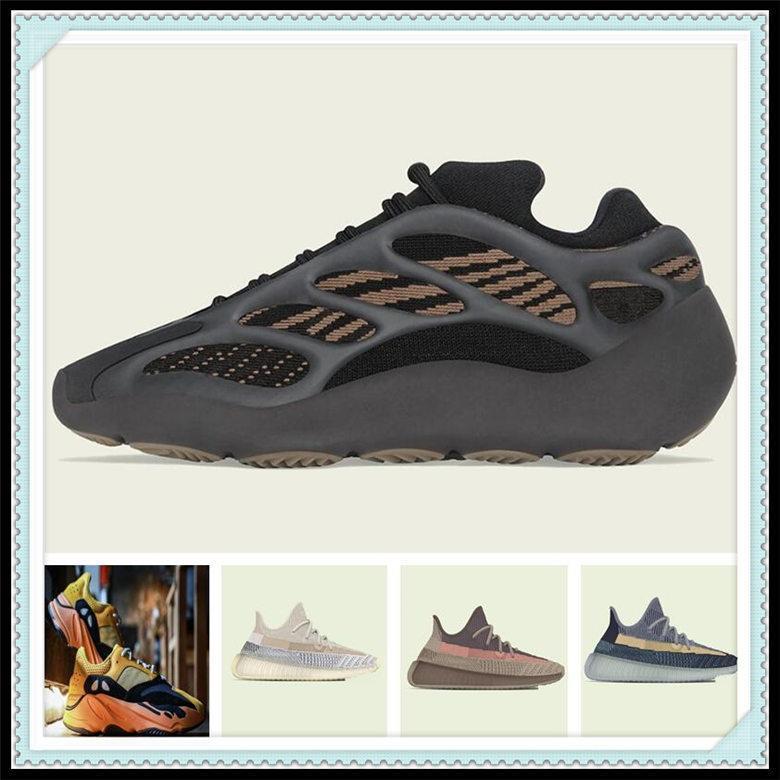 Chaussures de sport pour femmes 2021 Kanye West Sun Yecoraite Officiel Officiel Boutique Nouveau Lumière Réflective Casual Stores Sneakers Citron Chaussure Taille 36-48