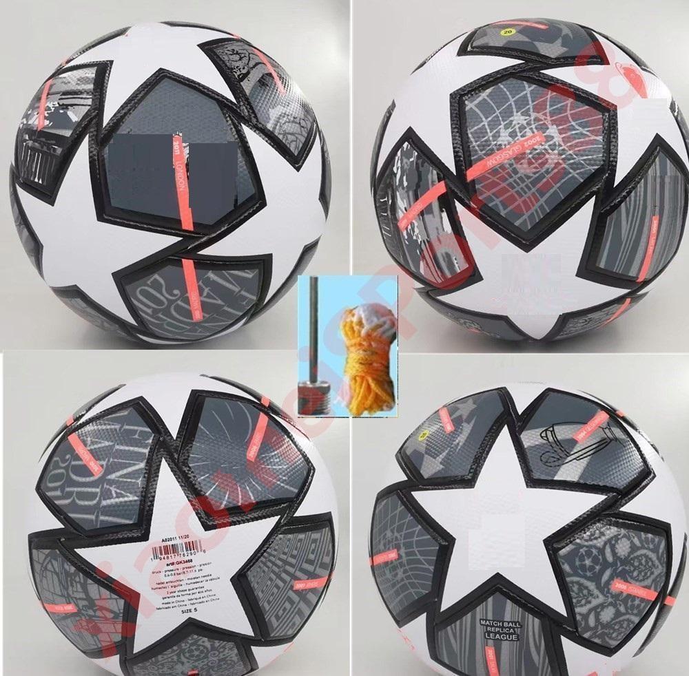 Nuevo 2021 Campeón Europeo Fútbol Balón 20 21 Final Kyiv PU Tamaño 5 Bolas Gránulos Fútbol resistente al deslizamiento Envío gratis