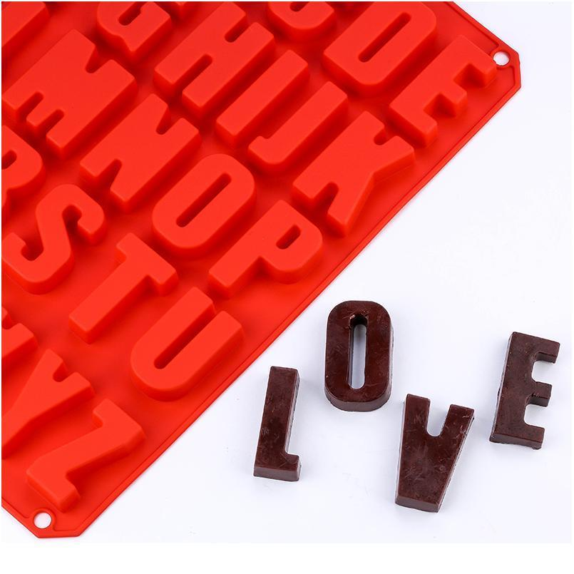 Block Großbuchstabe Betonform Gips Number 3D Fudge Kuchen Mold Dekoration Werkzeug DIY Küche Backen S Jllnjw