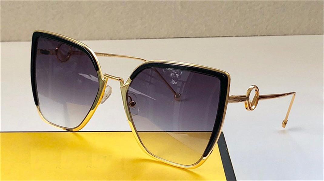 Новые моды дизайн женские солнцезащитные очки 0356 кошка глаз кадр простой бестселлеров стиль высочайшего качества UV 400 защитные очки с коробкой