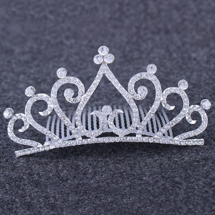 الماس القلب التاج عقال غطاء الرأس كريستال العروس تيارا مشط زفاف عيد الأزياء حزب الأزياء والمجوهرات سوف والرمل