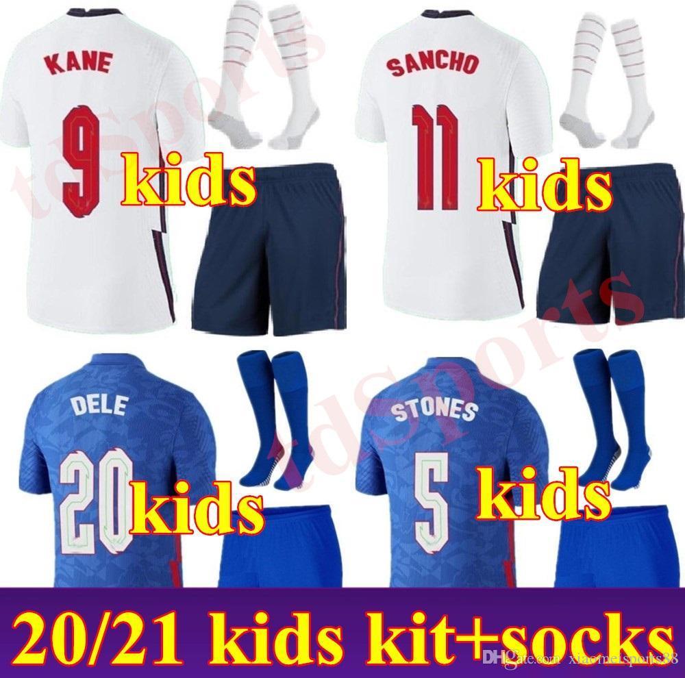 2021 European Cup National Team Home Away Soccer Jerseys 20 21 Kit Kid Kit Giovani Bambino Sterling Rashford Kane Sancho Camicie da calcio
