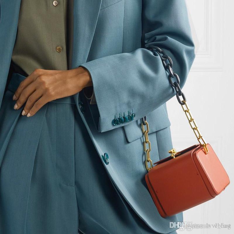 Blocco catena di cuoio della catena della catena della catena della catena della catena dei sacchetti della borsa della borsa della borsa della borsa della borsa della borsa della borsa della borsa della borsa della borsa della box di Messenger Mini Fashion Semplice Metal Cross DHKU