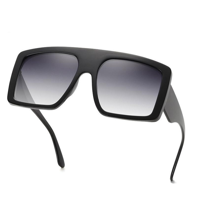 Luxo 2020 mais novo Design Quadro Big Oversized Sunglasses Mulheres Grande Flat Top óculos de sol na moda Praça Gradiente ShadesDR27723