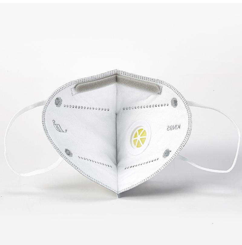 Outlet venta caliente libre Listo! Plegable con la mascarilla de respiración de la válvula anti-polvo máscaras para respirar cara con autocebante filtro en bolsas individuales