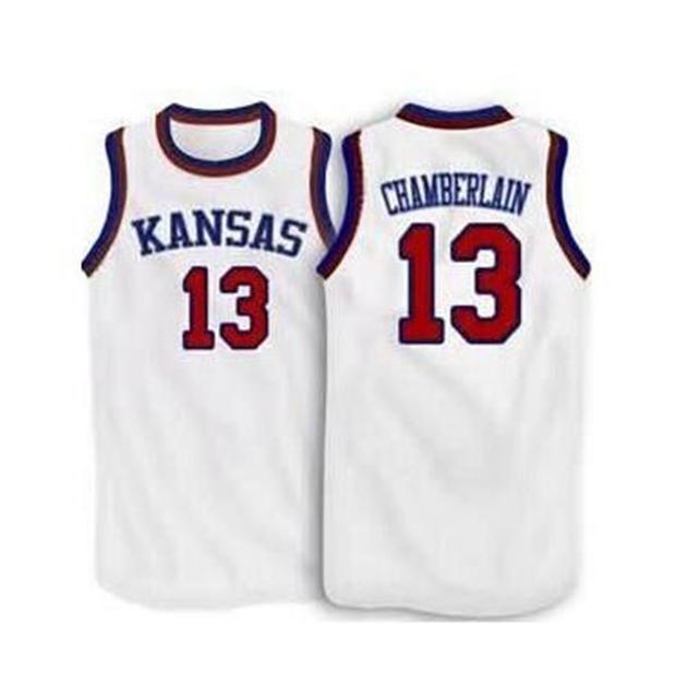Özel 604 Gençlik Kadın Vintage # 13 Wilt Chamberlain Kansas Jayhawks Ku Basketbol Forması Boyutu S-4XL veya Özel Herhangi Bir Ad veya Sayı Forması