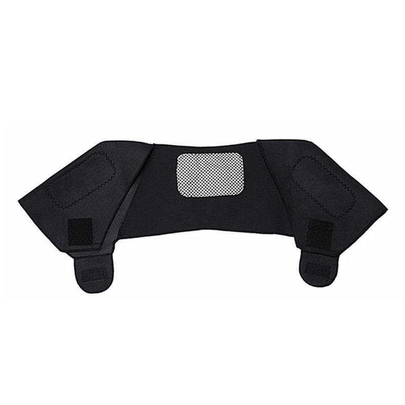 Postura Corrector Lumbar Hombro Lumbar Brade Guard Stretch Cuello de espalda Magnético Turmalina Cinturón Masaje Negro Auto Calentamiento Dolor Alivio