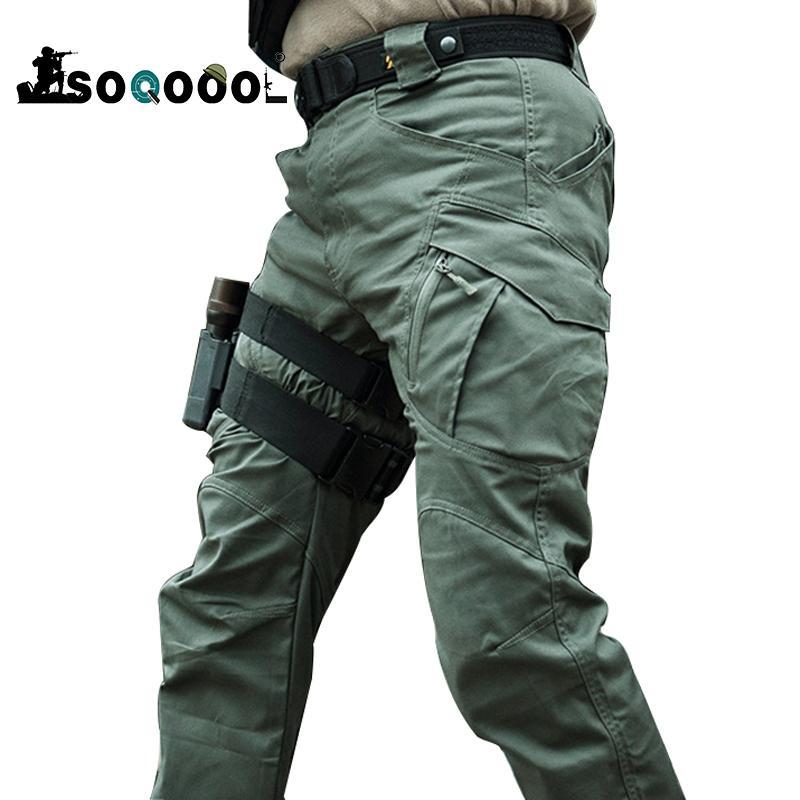 Soqoool City Militärische Taktische Hosen Männer Swat Combat Armee Hose Männer Viele Taschen Wasserdichte Verschleiß Widerstand Casual Cargo Pants J1218