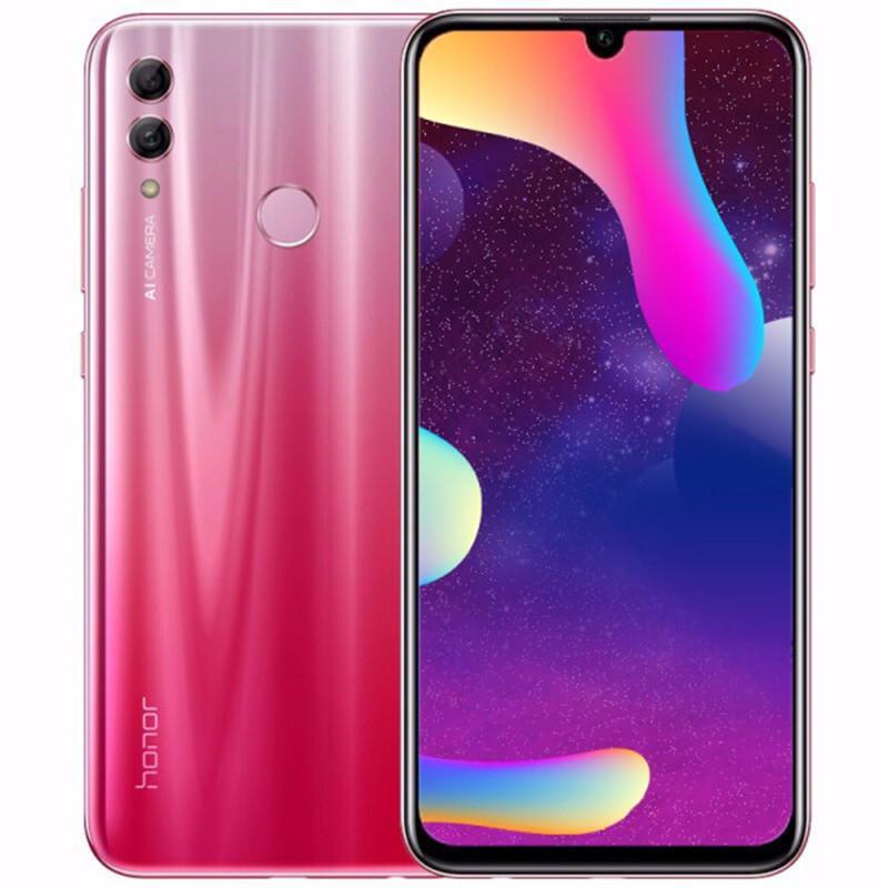 Original Huawei Honor 10 Lite 4G LTE Cell Phone 6GB RAM 128GB ROM Kirin 710 Octa Core 6.21 inch Full Screen 24MP Fingerprint ID Mobile Phone