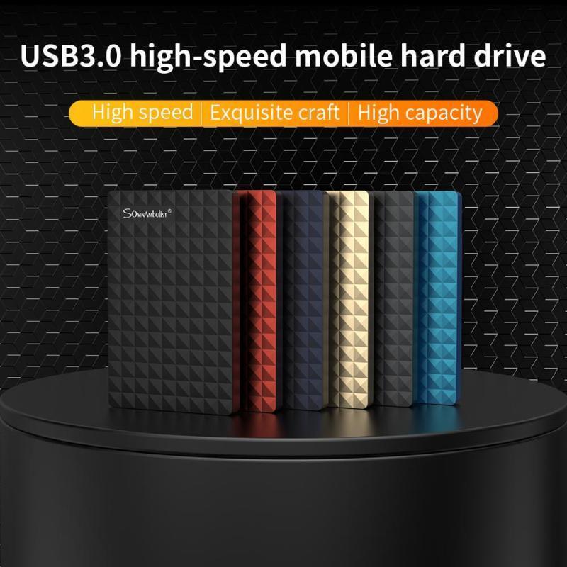 2.5 '' Harici Sabit Sürücü USB 3.0 Renkli Metal HDD Taşınabilir Harici HD Sabit Disk Masaüstü için Laptop Sunucusu Süper Fırsatlar