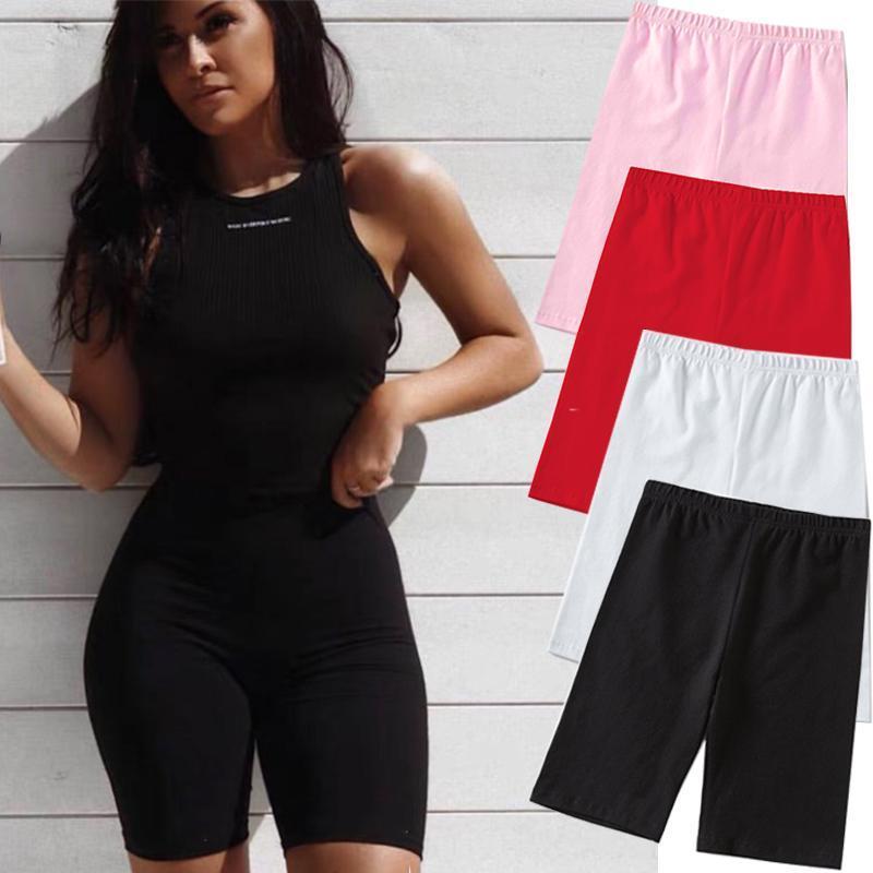 2020 летние моды шорты женщины сексуальные байкерские шорты фитнес корейский повседневный сексуальный короткий 4 цвета Athleisure Cycling S-XL