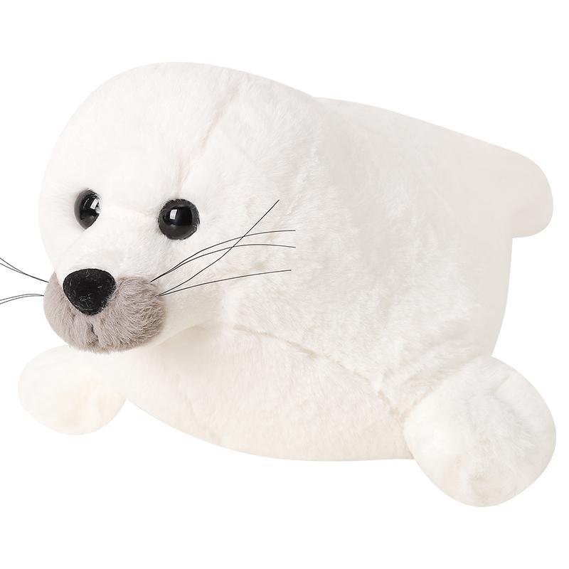 boneca selo de brinquedo de pelúcia animal marinho leão-marinho kawaii bonecas brancas travesseiro para dormir para o aniversário menina 55 centímetros presente 22inch DY50556