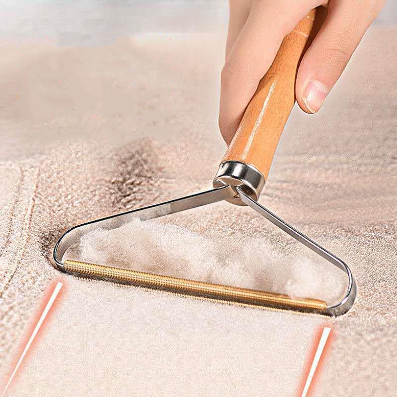 Ahşap Taşınabilir Lint Remover Giysileri Fuzz Tıraş Makinesi Yeniden Kullanılabilir Çift Taraflı Lint Sökücü Lint Tozu Kaldırmak için MY-INF0676