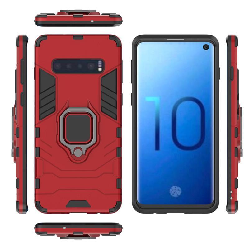caja del teléfono móvil para Note10pro blindado caja del teléfono móvil S10plus soporte circular invisible anti-caída de la manga el envío libre