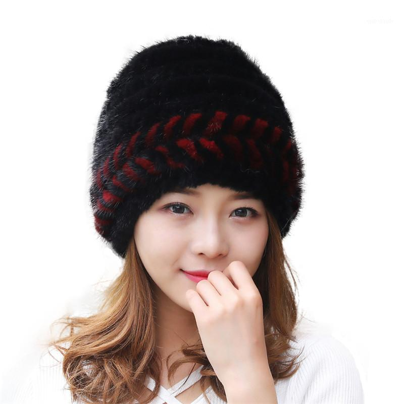 Stingy Brim Hats 2021 Real Hat Authentic Fashion Ladies Out Accessories Lace Warm Fur Both Stylish And Generous Free1