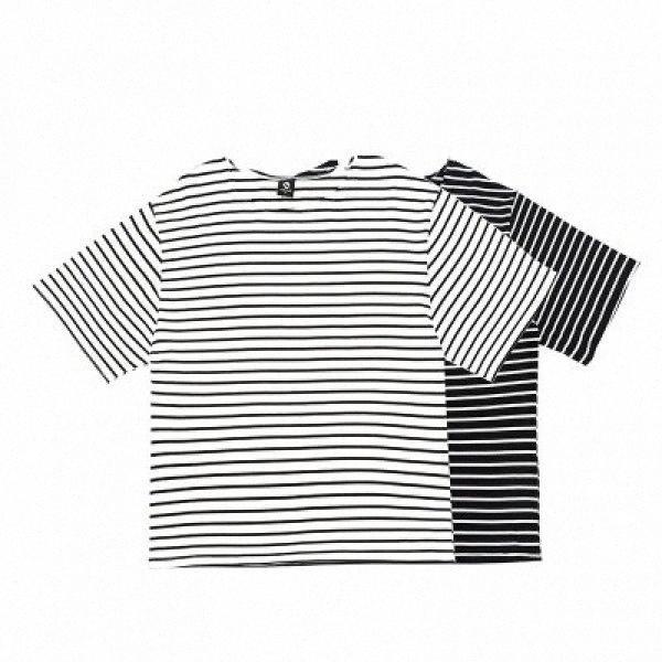 Mens Hip Hop Casual T-shirt rayé, rue Respirant courte Tee ras du cou Ins Mode Homme Vêtements de #