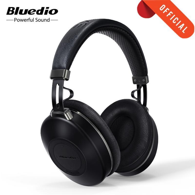 Bluedio Н2 беспроводных наушники Bluetooth 5.0 ANC гарнитур HIFI звукового шаг подсчет слот SD-карты Облако функция АРР привод 57мм