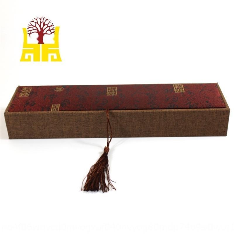IbSlj Das kann hängende Halskette gewendet werden Kette um die Box-Verpackung zeigen Leinen Quaste Anhänger wooden01