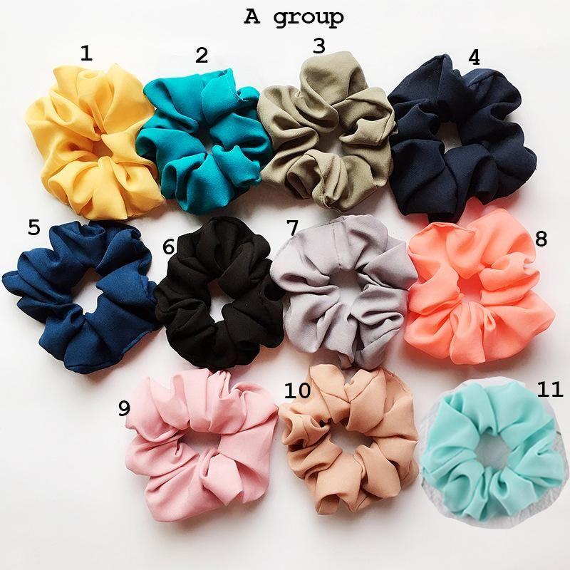 Intestine Lady Scrunchy Hair Ring Bandas Elásticas C6177 Chica Color Color Plaid Gran Leopardo Puro Scrunchie Danza Hairband Pelo Iwpqd
