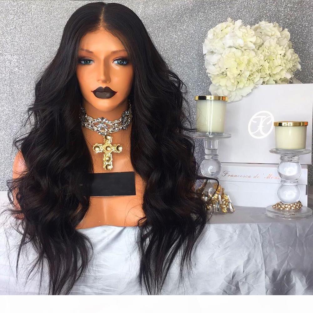 Полный шнурок человеческих волос Парики для чернокожих женщин бразильский человеческих волос Парики тела волны парик шнурка 7А Glueless полные парики шнурка