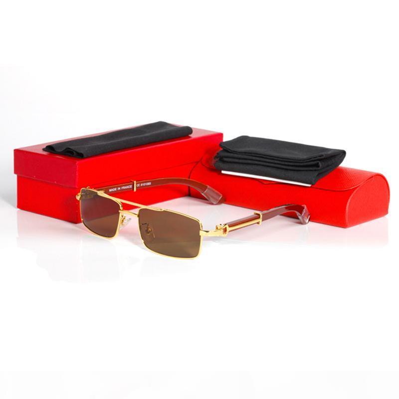 2020 Brillenrahmen Männer Verordnung Gold Metallrahmen Eyewear Solid Goldrahmen Gläser Square Aviatoren Männer Brillen Felgen mit Box