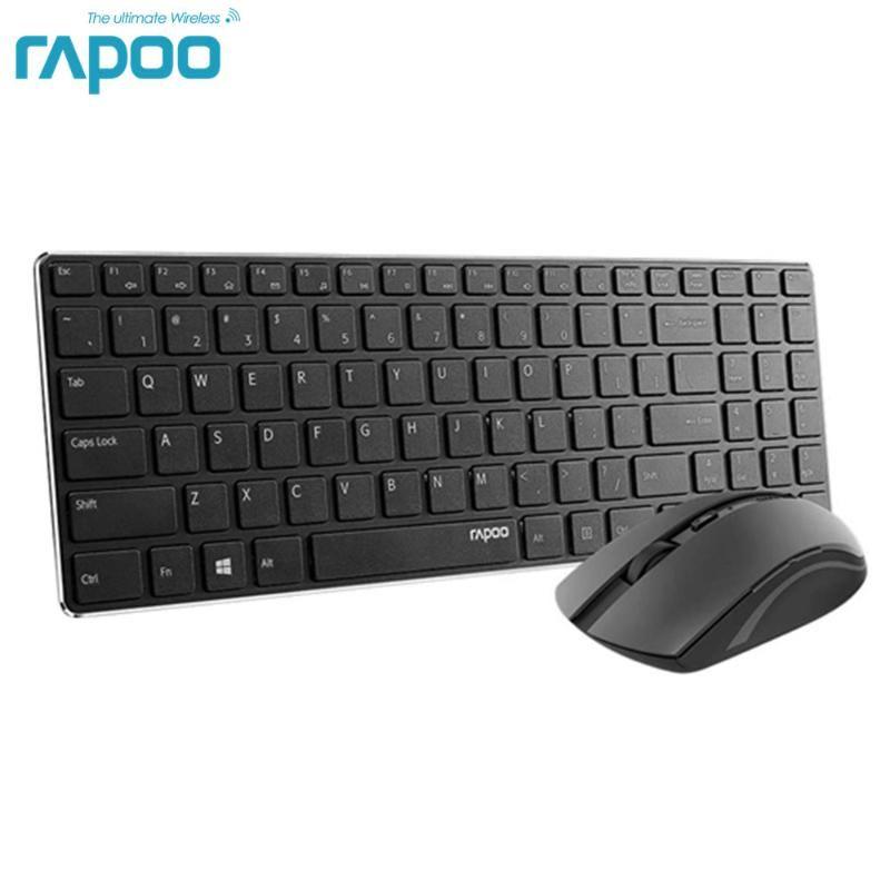 Rapoo 9300T Wireless тонкая клавиатура и мышь Combo, ультра-тонкий легкий, удобный немой, 2.4G 1000 DPI Smooth Portabl