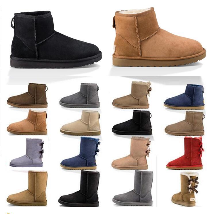 2020 дизайнерские женские ботинки снежные зимние сапоги австралийские атласные ботинки лодыжки пинетки меховой кожа на открытом воздухе обувь размер 36-41
