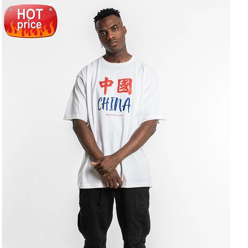 Orijinal Boy Mektup Baskı Beyaz Tişörtleri Erkekler Ve Kadınlar Katı Gevşek Pamuk Hip Hop Çift T Gömlek Kısa Kollu Crewneck Tees # Ai9e